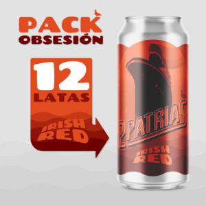 Pack de 12 latas de cerveza artesanal estilo Irish Red