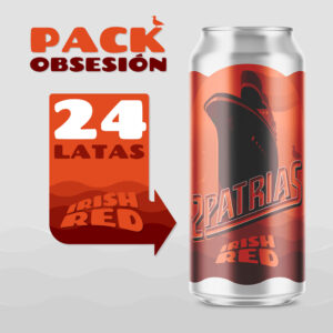 Pack de 24 latas de cerveza artesanal estilo Irish Red
