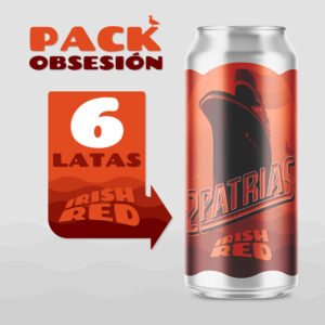 Pack de 6 latas de cerveza artesanal estilo Irish Red